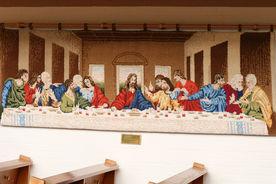 Wandteppich mit letztem Abendmahl in der St.-Marien-Kapelle in Schönberg - Copyright: Manfred Maronde