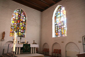 Innenansicht der St.-Marien-Kirche Sandesneben