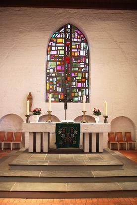 Der Altar der St.-Marien-Kirche Sandesneben