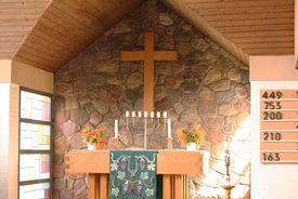 Der Altar der St.-Marien-Kapelle in Schönberg